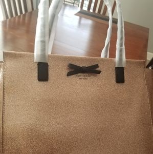 New Kate Spade Rose gold Mavis Street Taden Tote